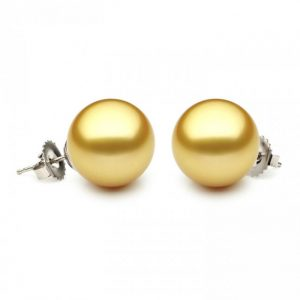 10-10.5mm Golden South Sea Pearl Stud Earrings