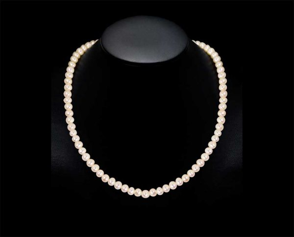 6mm Akoya Pearl Necklace - AAA Quality