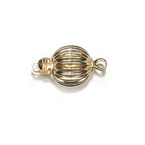 Ridged Golden 6mm Ball Clasp for Bracelet