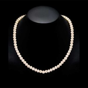 7mm Akoya Pearl Necklace - A Quality