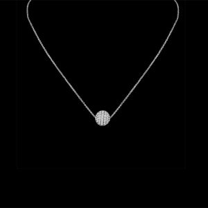 8mm Diamond Ball Necklace