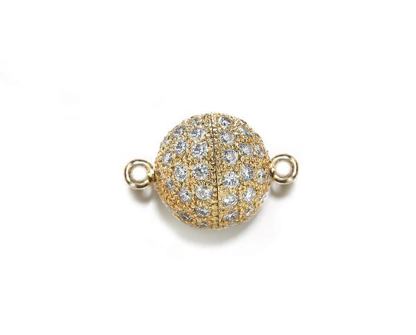 9mm Diamond Ball Clasp for Necklace