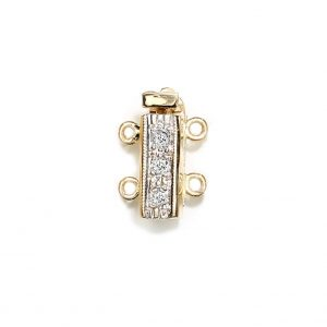Bayonet Diamond Clasp for Double Strand