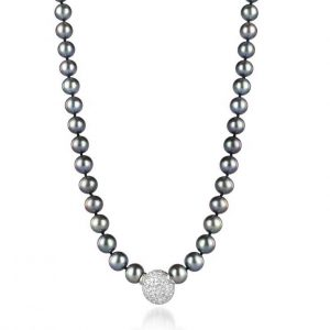 Black Ball Pearl Necklace