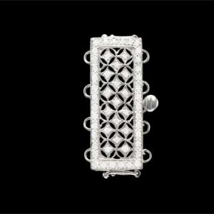 Diamond Coat Of Armor Clasp for Pearl Necklace