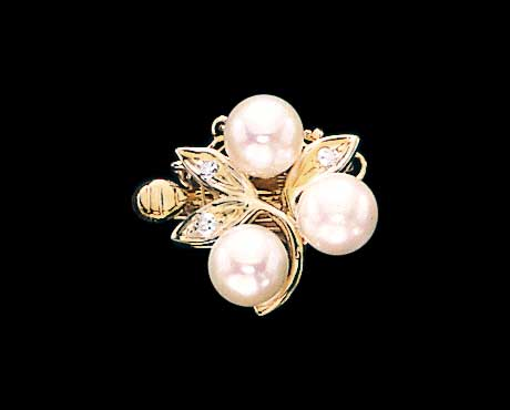 Leaf Diamond Clasp for Pearl Necklace