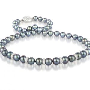 Diamond Rondel Southsea Pearl Necklace