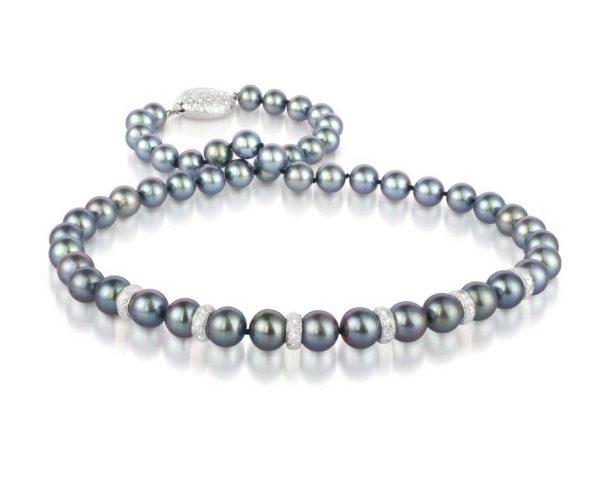Diamond Rondel Southsea Pearl Necklace