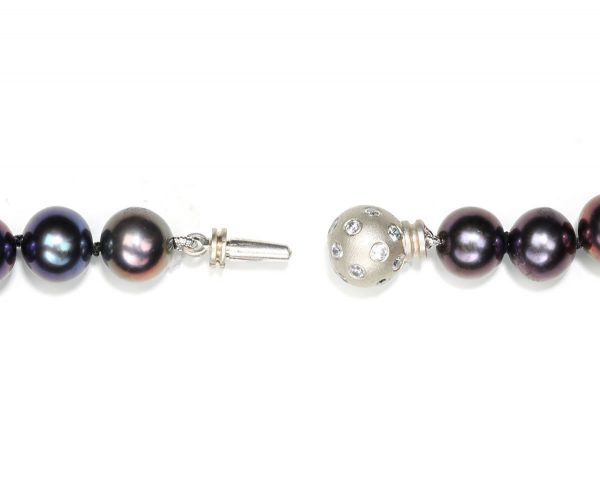 Extra Large Diamond Set Ball Necklace Clasp