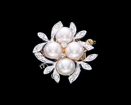 Flower Cluster Diamond Necklace Clasp