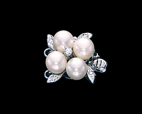 Flower Pearl Necklace Clasp