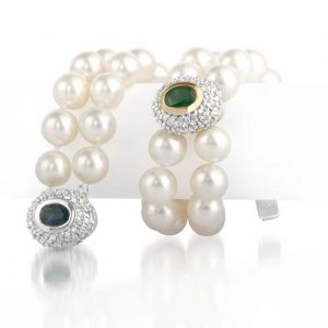 Gemstone Double Pearl Bracelet