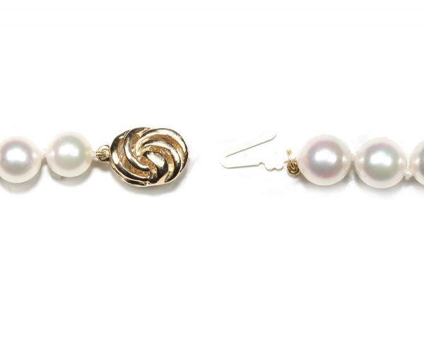 Pearl Bracelet Golden Wire Clasp