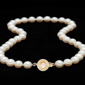 Bulls Eye Pearl Necklace