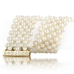 Pearl Diamond Row Bracelet