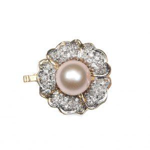 Pink Pearl Flower Bracelet Clasp