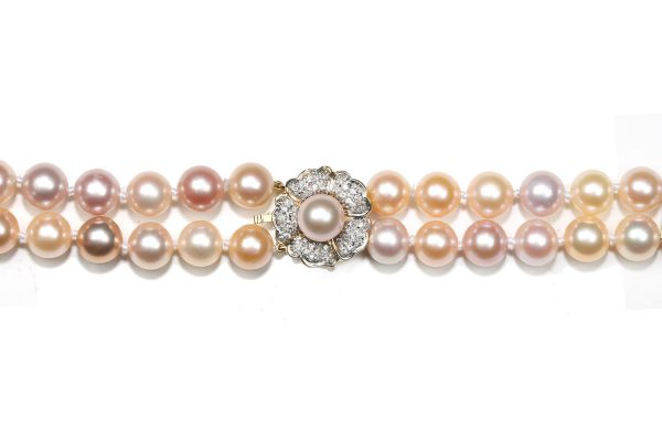 Pink Pearl Flower Necklace Clasp