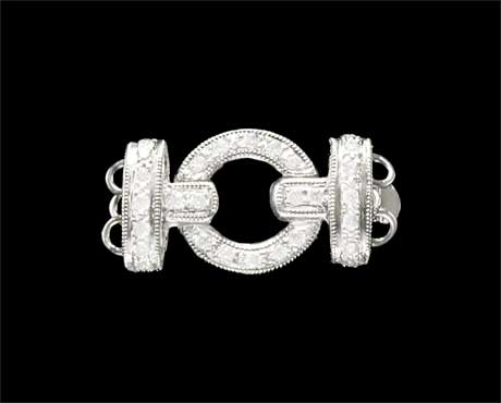 Round Buckle Clasp for Pearl Bracelet