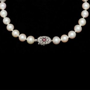 Ruby Pearl Necklace