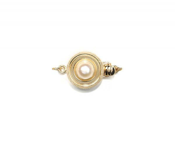 Single Bulls Eye Clasp for Pearl Necklace