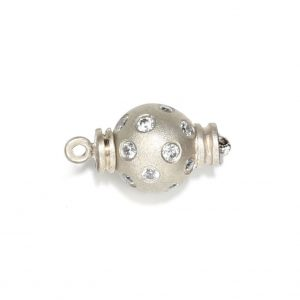 Small Diamond Set Ball Bracelet Clasp