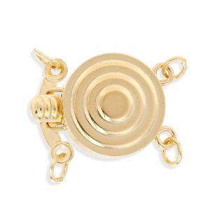 Bullseye Clasp for Pearl Bracelet