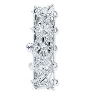 Crossing Diamond Bar Bracelet Clasp
