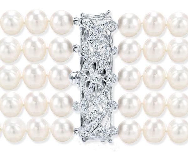 Crossing Diamond Bar Bracelet Clasp