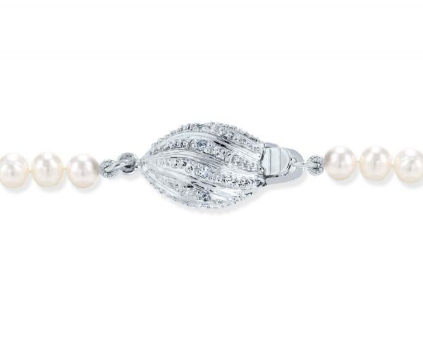 Diamond Football Pearl Bracelet Clasp