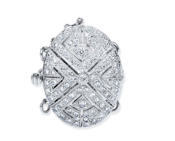 Diamond Oval Bracelet Clasp