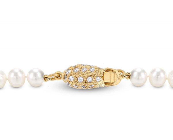 Diamond Rice for Pearl Bracelet Clasp