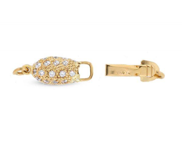 Diamond Rice Necklace Clasp