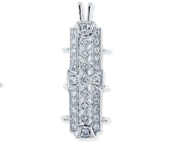 Diamond Studded Pearl Bracelet Clasp