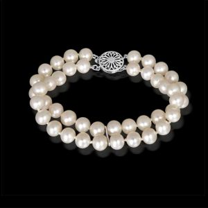 Double Strand 7mm Pearl Bracelet
