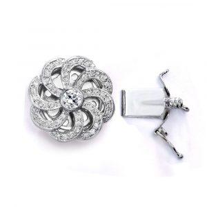 eight leaf flower clasp for pear;l bracelet
