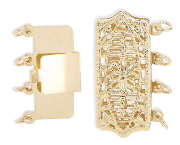 Filigree Clasp for Multiple Strand Bracelet