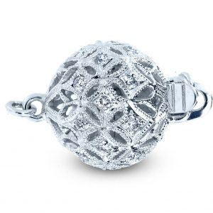 Medium Filigree Diamond Ball Clasp