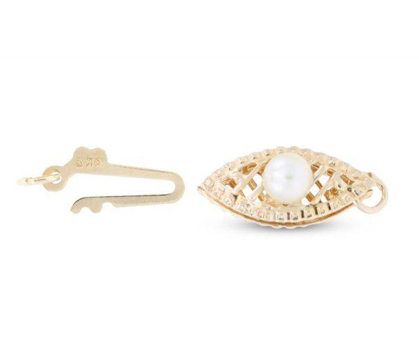 Filigree Pearl Fishhook Bracelet Clasp