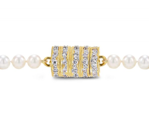 Five Rondels Pearl Necklace Clasp