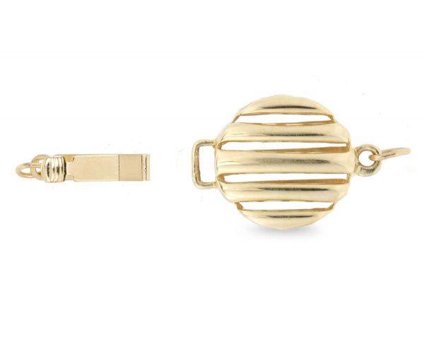 Flat Round Pearl Bracelet Clasp