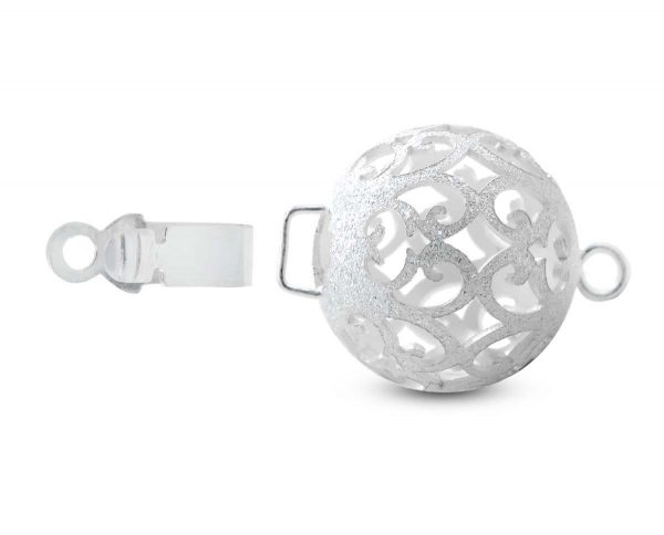Floating Silver Ball Clasp