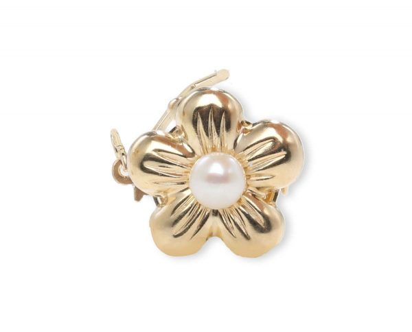 Golden Flower Necklace Clasp