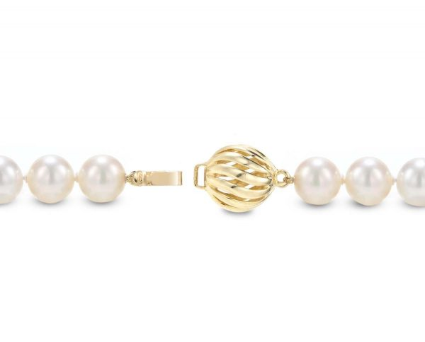 Golden Wire Ball Necklace Clasp
