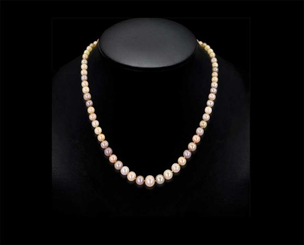 Graduated Pink Freshwater Pearl Necklace