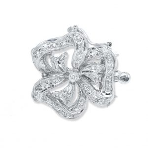 Large Flower Diamond Necklace Clasp