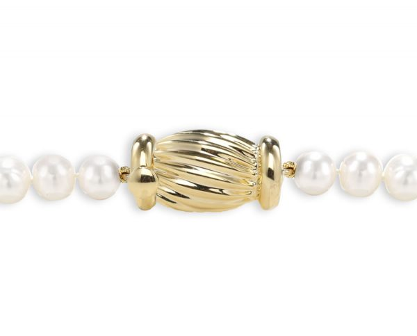 Golden Barrel Clasp for Pearl Bracelet
