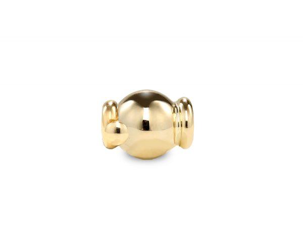 Little Gold Barrel Clasp for Pearl Bracelet