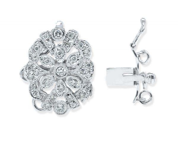Sterling Silver Flower Bracelet Clasp