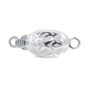 Silver Swirl Pearl Bracelet Clasp