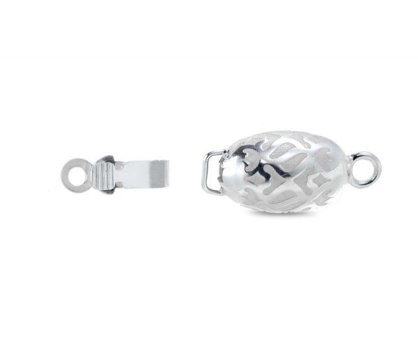 Silver Swirl Pearl Necklace Clasp